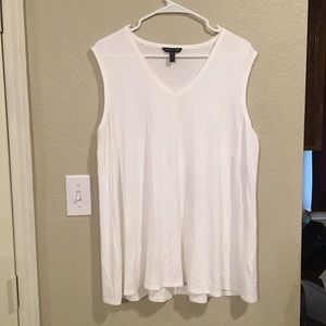 Eileen Fisher Vneck Tank Shirt Medium White